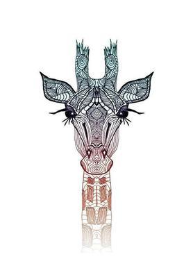 Giraffe canvas doek