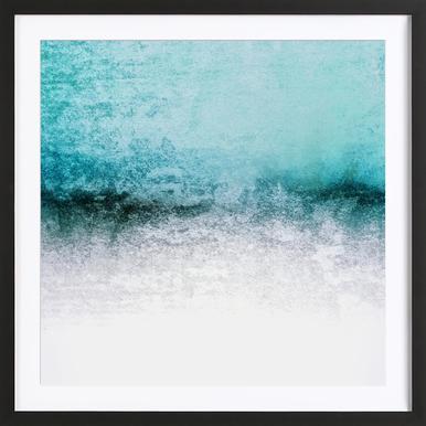 Snowdreamer Aqua Framed Print
