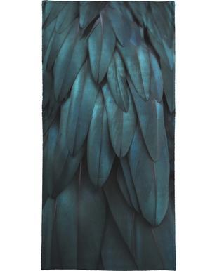 Dark Feathers Bath Towel