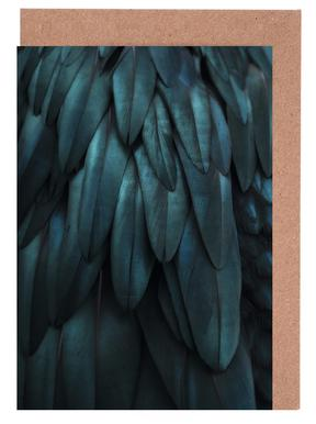 Dark Feathers Greeting Card Set