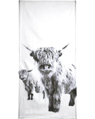 Highland Cows Beach Towel