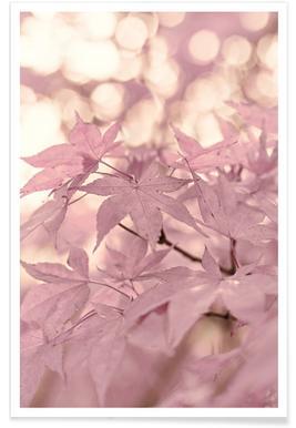 Rose Maple Leaves -Poster