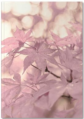Rose Maple Leaves Notebook