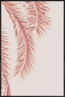 Rose Palm Leaves Framed Poster