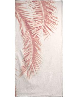 Rose Palm Leaves Beach Towel