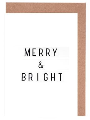 Merry X-Mas Lightbox wenskaartenset