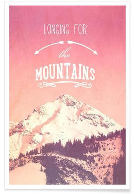 LONGING FOR THE MOUNTAINS -Poster