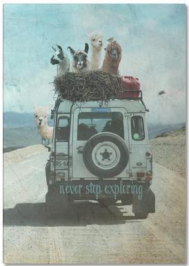 Never Stop Exploring II -Notizblock