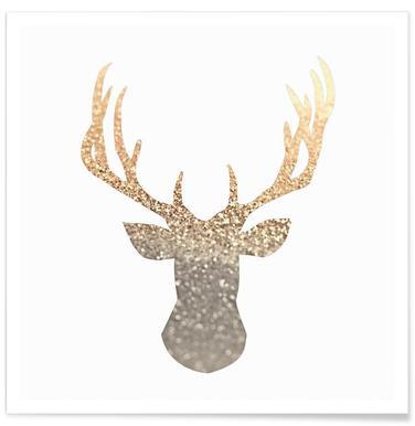 Gold Deer -Poster
