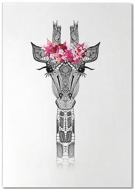 Flower Girl Giraffe Notepad
