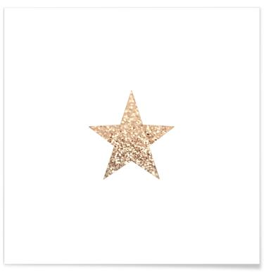 Gatsby Gold Star Poster