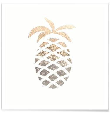 Gold Pineapple -Poster