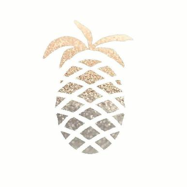 Gold Pineapple -Leinwandbild