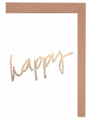 Gold Happy cartes de vœux