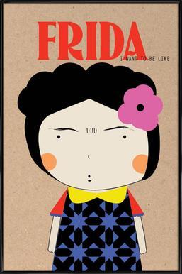 Little Frida -Bild mit Kunststoffrahmen