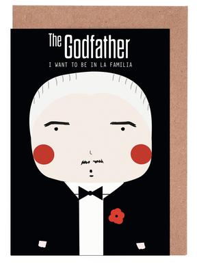 Little Godfather Greeting Card Set