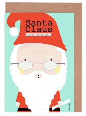 Little Santa Greeting Card Set