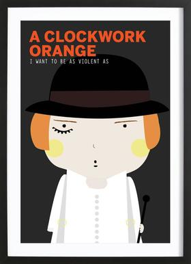 Little Orange clockwork  Framed Print