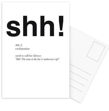 The shh interjection ansichtkaartenset