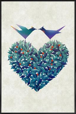 Love Birds ingelijste poster