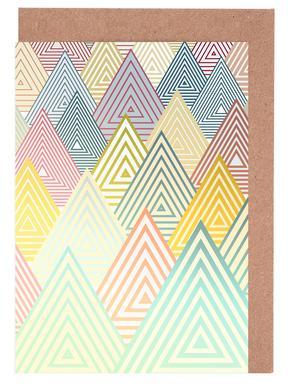 Pastel Mountains -Grußkarten-Set