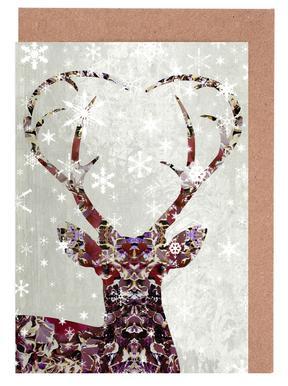 Snow Deer -Grußkarten-Set