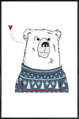 Winter Bear Framed Poster