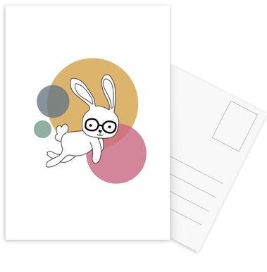 Space Rabbits Castor Postcard Set