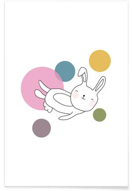 Space Rabbits Neo Poster