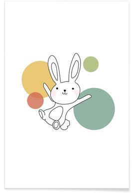 Space Rabbits Vega Poster