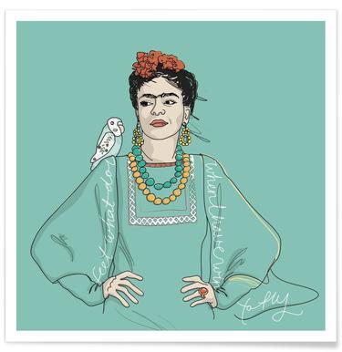 Frida Kahlo Plakat Juniqe