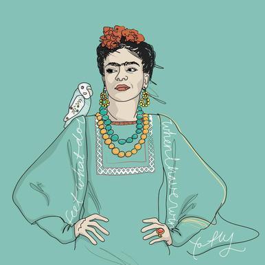 Frida Kahlo acrylglas print