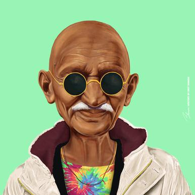 Gandhi -Leinwandbild