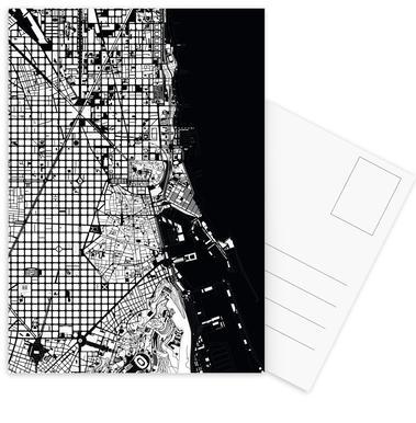 Barcelona Black & White Postcard Set