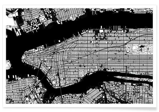 New York Black & White poster