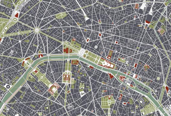 Paris Engraving -Acrylglasbild