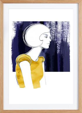 Irma Gold - Poster in Wooden Frame