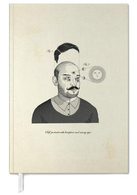 Self-portrait with hairpiece and many eyes