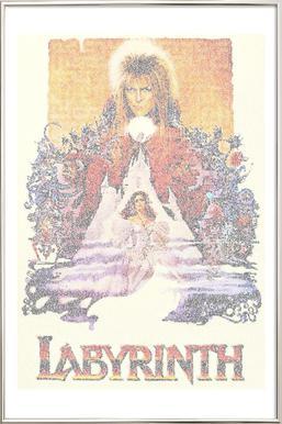 Labyrinth -Poster im Alurahmen