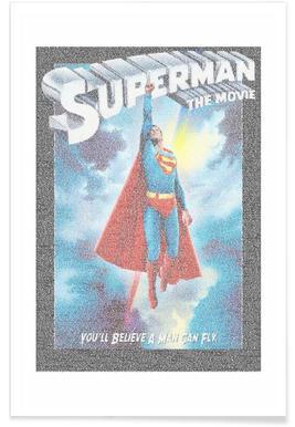 Superman 1978-Pointillismus -Poster