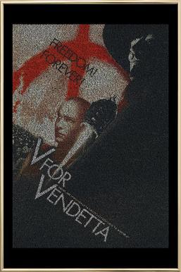 V for Vendetta -Poster im Alurahmen