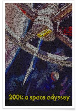 A Space Odyssey-Pointillismus -Poster