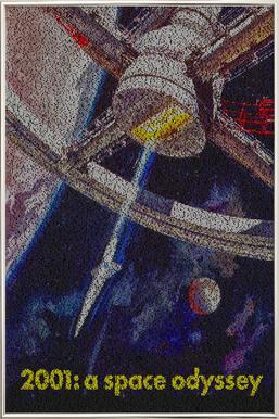 A Space Odyssey -Poster im Alurahmen