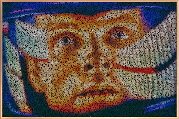 Dave II -Poster im Alurahmen