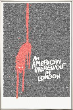An American Werewolf In London Poster in Aluminium Frame