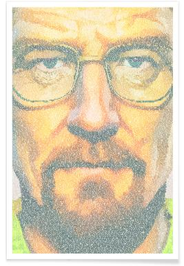 Breaking Bad Pointillism Poster