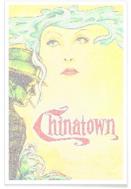 Chinatown-Pointillismus -Poster