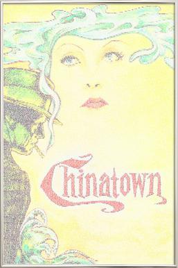 Chinatown -Poster im Alurahmen