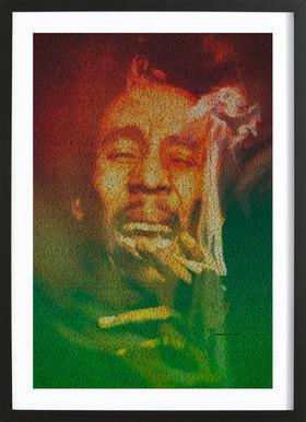 Marley -Bild mit Holzrahmen