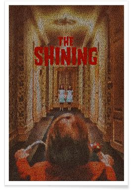 The Shining Pointillism Poster